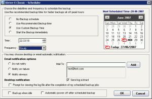 IDrive-Schedule