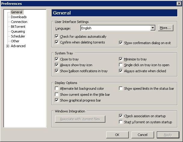 Utorrent Logger Tab