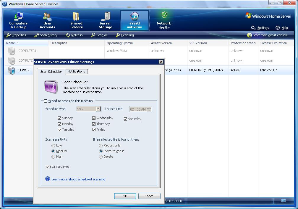 avast! WHS Edition AntiVirus Beta Program