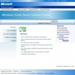 Microsoft's Windows Home Server Solution Center