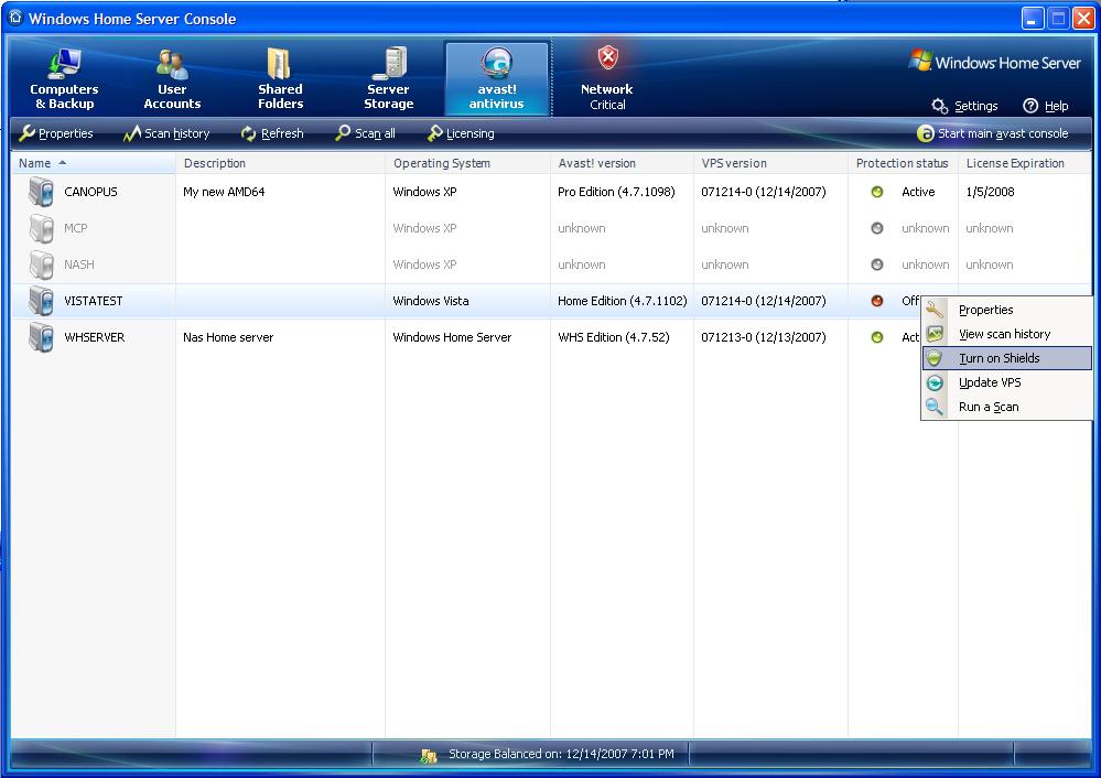 avast server antivirus