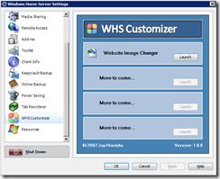 WHS Customizer