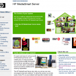 HP MediaSmart Server Page Updated