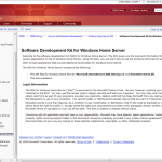 Windows Home Server Software Development Kit Updated