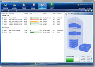 WHS Disk Management