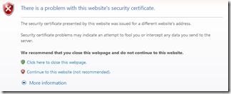 Website Security Certificate Problem