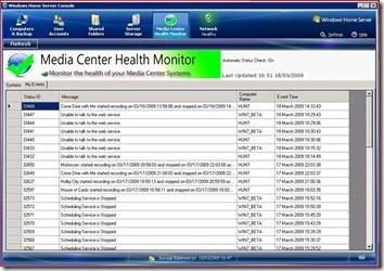 Media Center Health Monitor