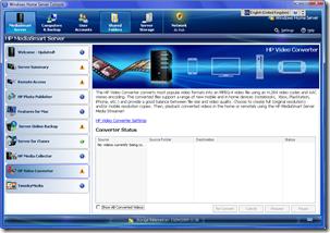 HP Video Converter Status