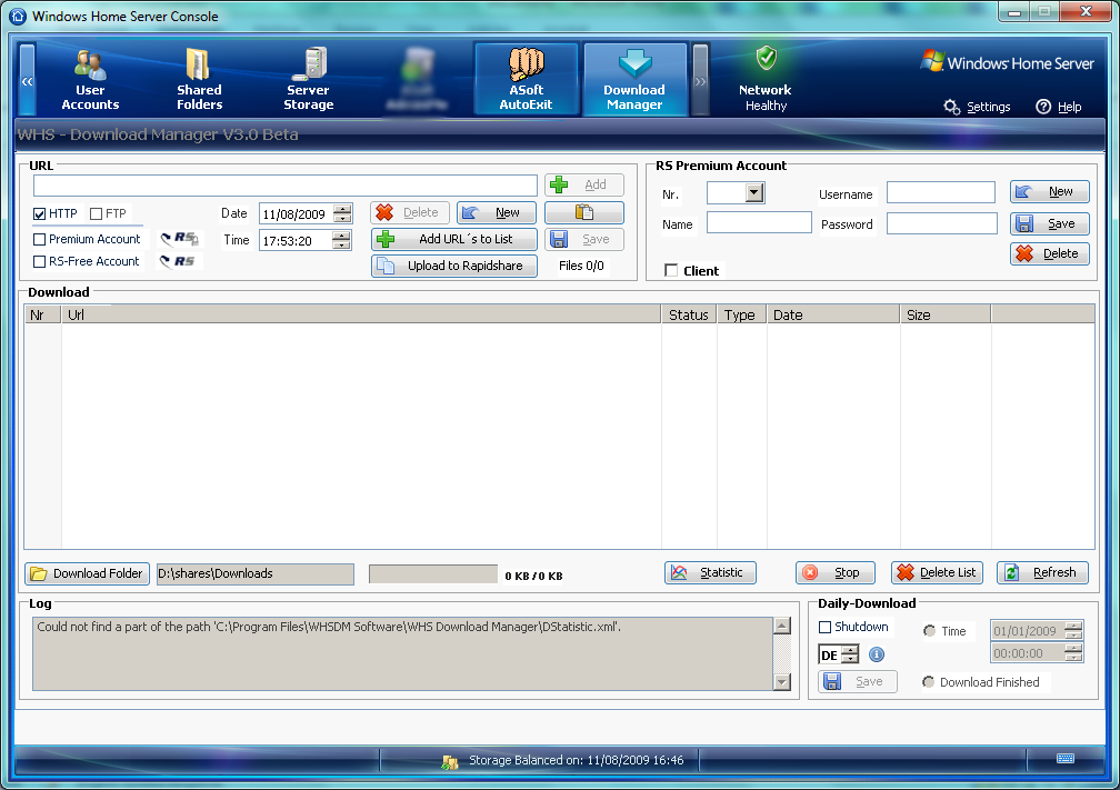 Christof Rakowski's Download Manager Version 3