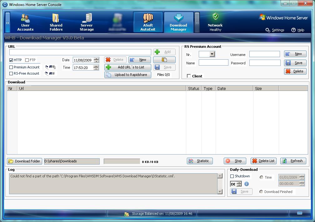 Christof Rakowski's Download Manager Version 3