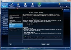 Video Converter DVD settings