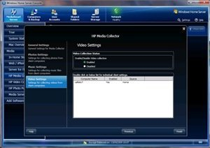 Media Collector video settings