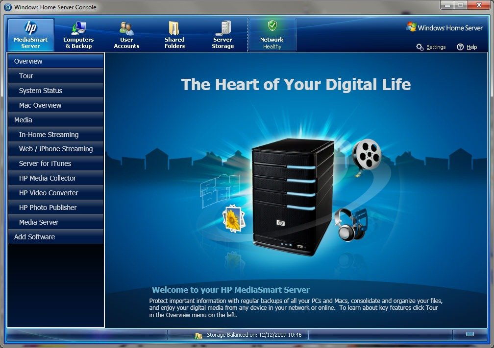 HP MediaSmart V3 upgrade on an EX475