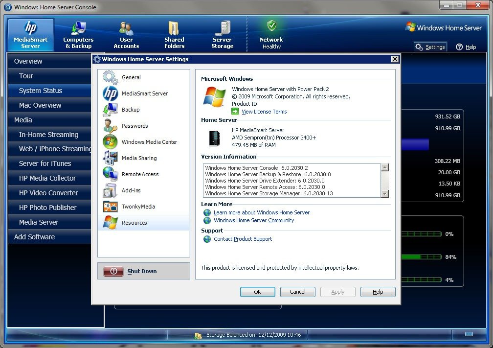 HP MediaSmart V3 upgrade on an EX475