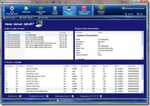 Home Server SMART Main Windows
