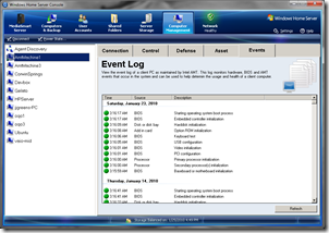 Manageability Event Log