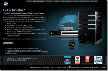 HP TiVo Advertising