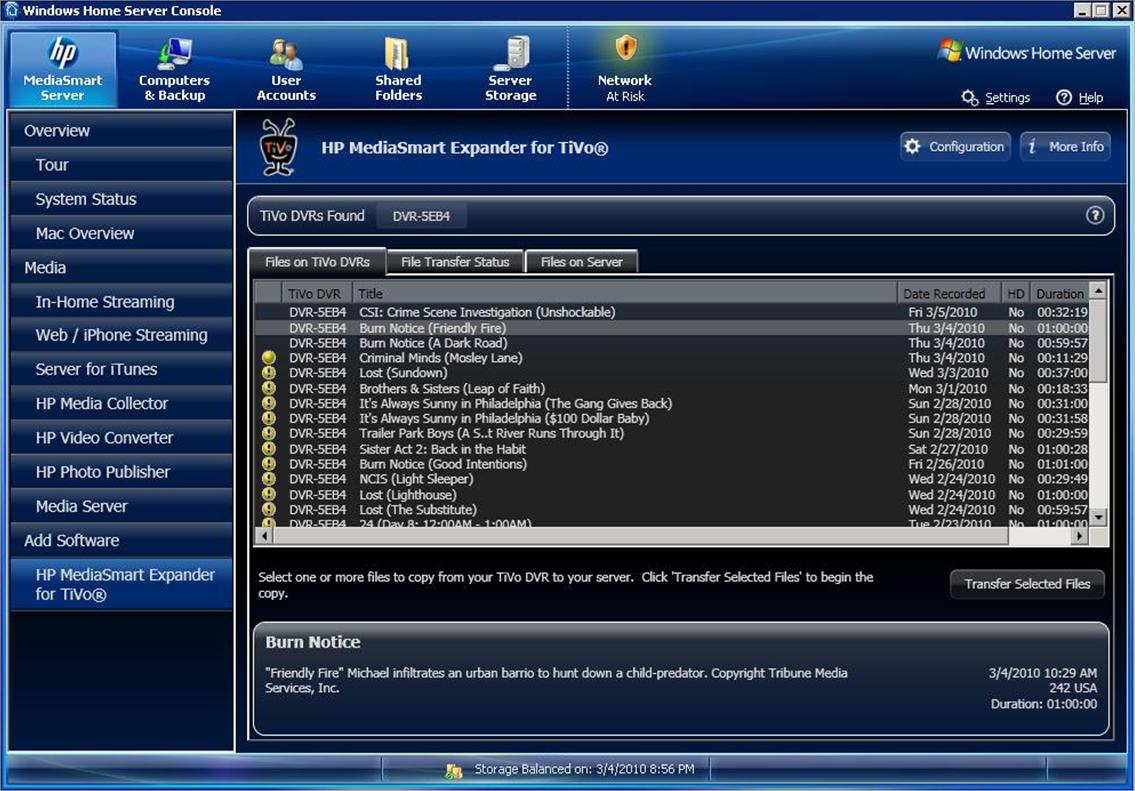 Hp Mediasmart Expander For Tivo