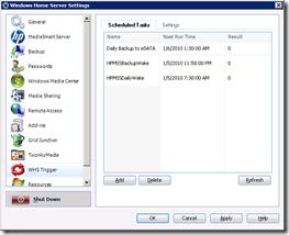 WHS Trigger Scheduled Tasks