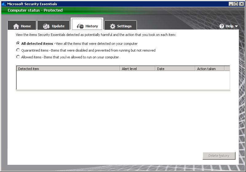 Microsoft Security Essentials 2 0 Beta