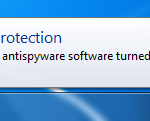 No Spyware Protection Error Message