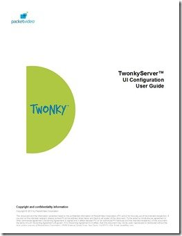TwonkyServer 6.0 Users' Guide