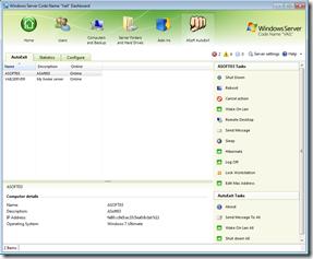 AutoExit for Windows Home Server Vail
