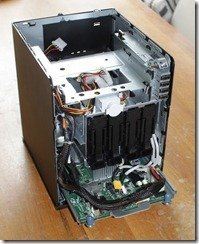HP ProLiant MicroServer Inside