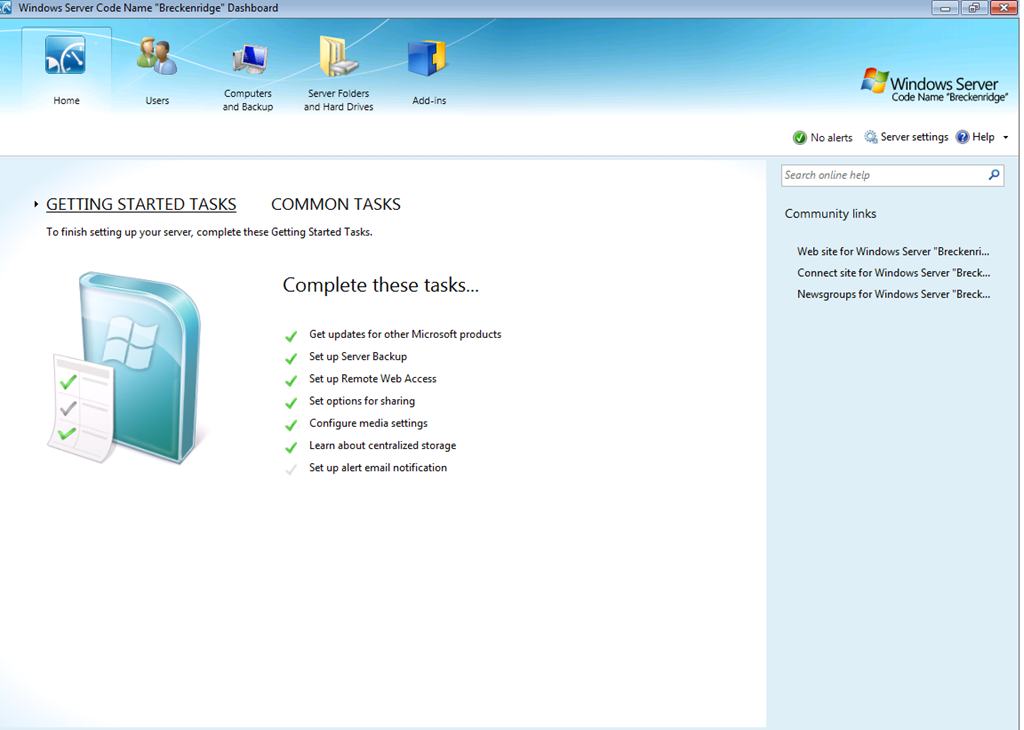 Microsoft forums - Windows Home Server
