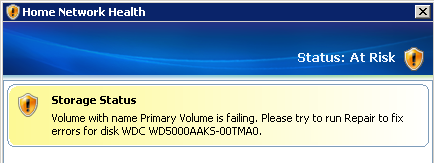 Failing System Drive