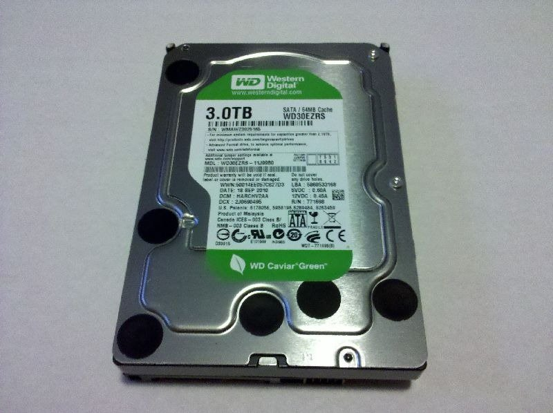 The 3tb caviar green drive from western digital for 3tb esterno