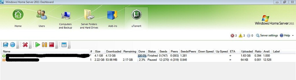 uTorrent for WHS2011 Add-In Available Soon