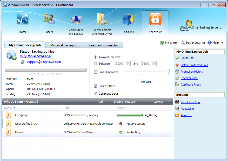 How to back up Small Business Server 2011