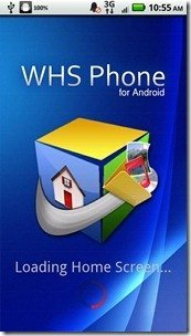 WHS Phone for Android 1.2.3 Trial Main Screen