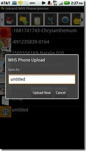 WHS for Android 1.3 Photo Upload