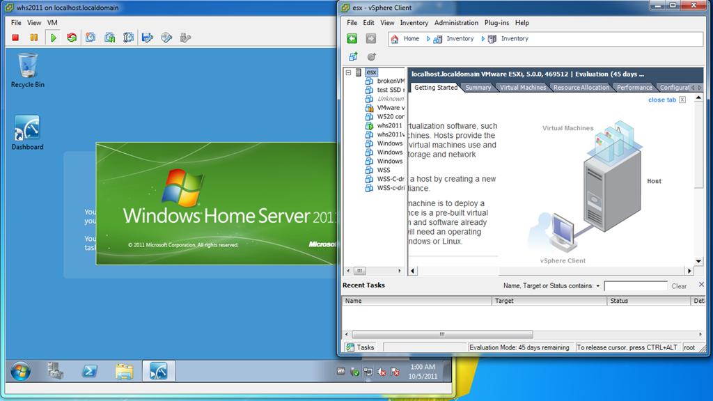 windows home server machine