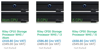 Riley Server Processor Units