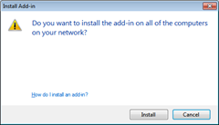 Add-in Installation