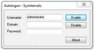 Autologin - Sysinternals