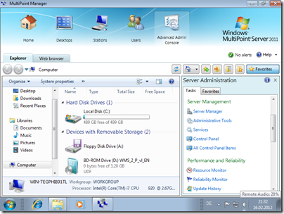 AAC on MultiPoint Server 2011