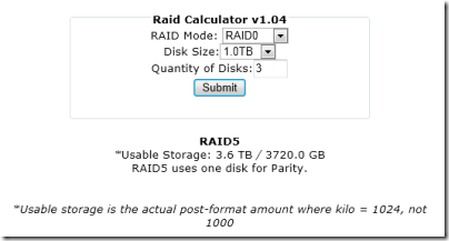 RAID Calculator v1.04