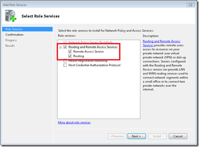 Setup a VPN for WHS 2011 - Select Role Services