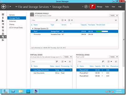 Implementing Storage Pools and Storage Spaces Virtual Lab