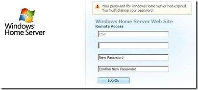 WHS Change Expired Password