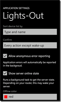 Lights-Out Mobile for Windows Phone