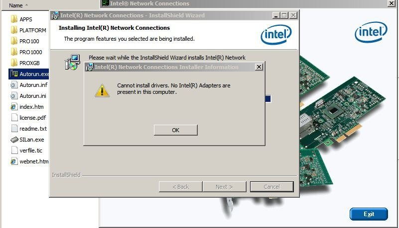 Software and Drivers for the Intel PRO/ Adapter