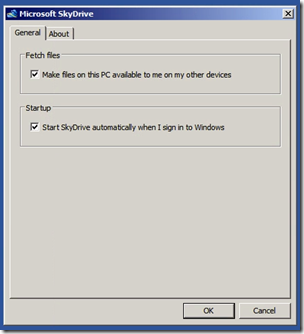 SkyDrive Fetch Files Setting