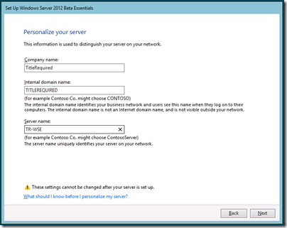 Set Up Windows Server 2012 Beta Essentials - Personalize Your Server