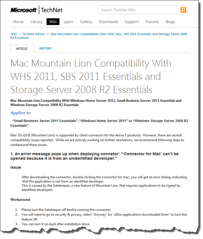 Mac Mountain Lion Compatibility With WHS 2011 Wiki