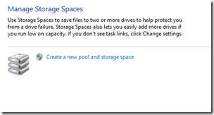 Manage Storage Spaces